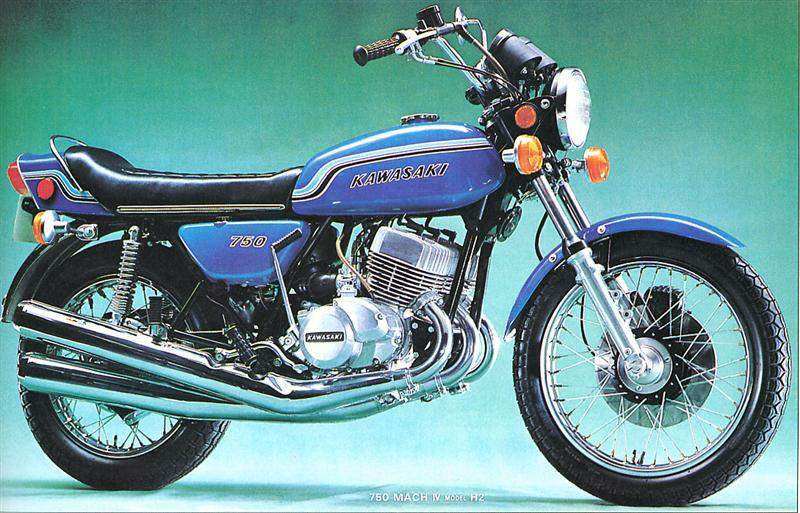 KAWASAKI H2 Mach IV。