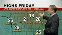 Video Forecast: Slight Warm Up Friday