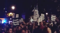 Protest in London Ahead of Vote on Syrian Airstrikes