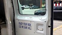 Controversy Over Baltimore Police Van Sign: 'Enjoy Your Ride, Cuz We Sure Will'