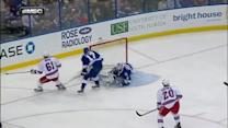Stepan steals and sets up Nash for a goal