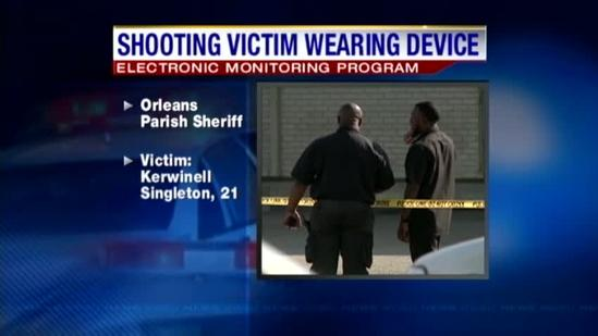 Shooting victim was wearing ankle monitor