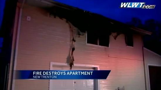 Power outage slows firefighters to Ind. apartment fire