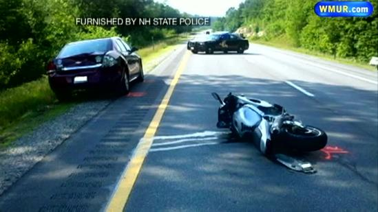 Police: Motorcycle going 143 mph before crashing in Sanbornton
