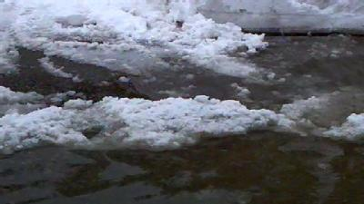 From The Field: Snow Blocks Storm Drains