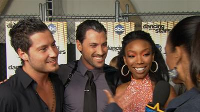 Brandy Can't Keep Her Eyes Off 'Dancing's' Hottest Brothers