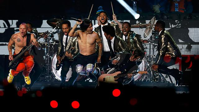 Red Hot Chili Peppers crash Super Bowl halftime show