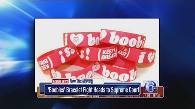 'Boobies' cancer bracelet fight heads to Supreme Court