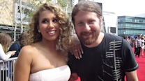 Haley Reinhart (with Casey Abrams) at the Season 12 'American Idol' Finale