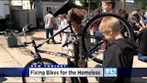 Schools Team Up To Help Fix Bikes For The Homeless