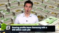 Soaring Profits Leave Samsung With a $40 Billion Cash Pile