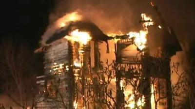Flames Destroy Old Home In Newkirk