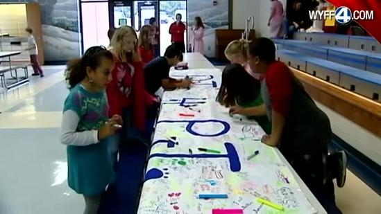 Upstate school holds PJ Day for sick student