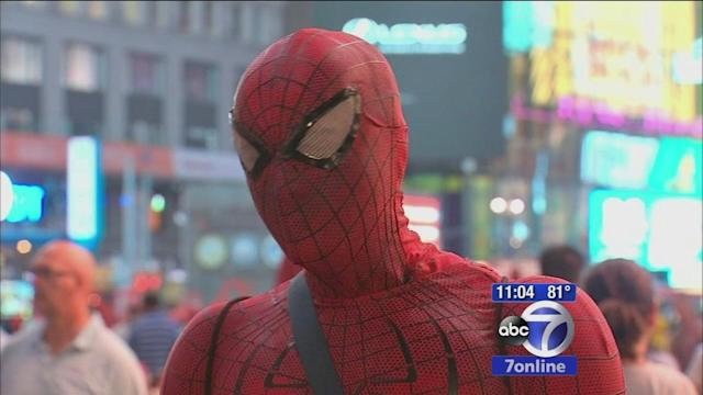Calls for crackdown on costumed characters after 'Spider-Man' charged in Midtown scuffle