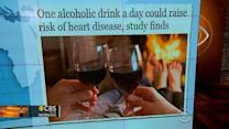 Headlines at 8:30: One alcoholic drink a day could raise heart disease risk