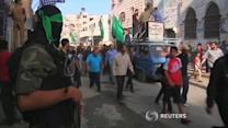 Palestinians hold funeral for militant killed in Israeli tank fire