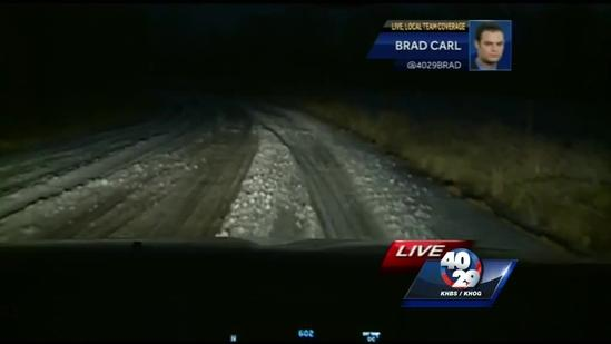 Back roads still icy from winter blast