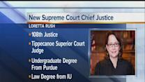 Rush named 1st female Supreme Court chief justice