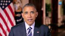Obama promotes Pacific trade pact in weekly address