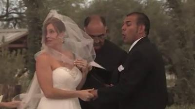 Dust Storm Interrupts Wedding