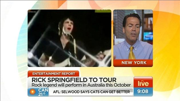 Rick Springfield to tour down under