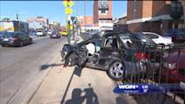 Woman dies after car hit by truck