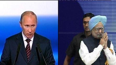 Putin meets Manmohan; arms sale, trade on agenda