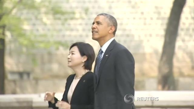 Obama visits ancient Korean palace in Seoul