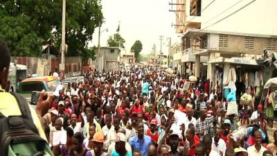 Protest Against Gay Marriage Proposal in Haiti