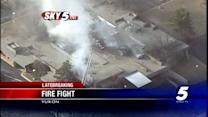 Old medical building on fire in Yukon