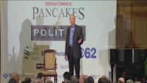 Protesters greet Snyder at Pancakes and Politics