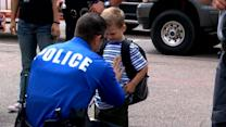 Nearly 2 Dozen Police Officers in Texas Surprise Fallen Comrade's Kids on 1st Day of School