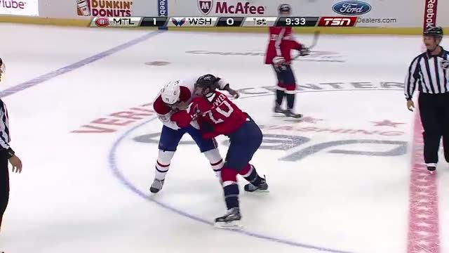 P.K. Subban and Troy Brouwer scrap