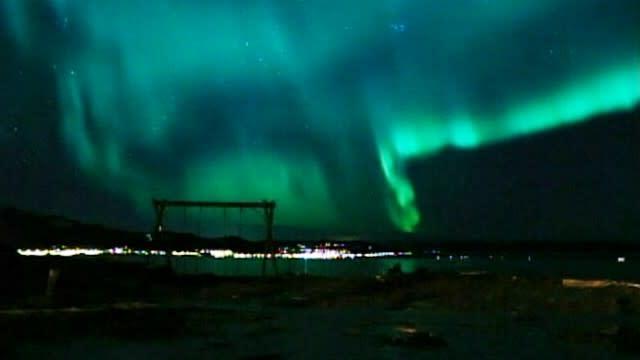 Solar Storm's Northern Lights Show