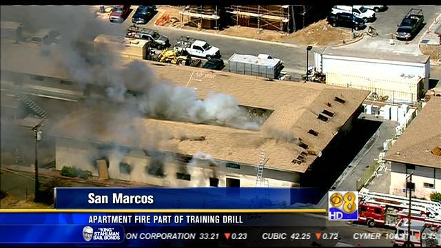 Apartment fire in San Marcos part of training drill