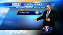 Partly cloudy and colder on the first day of spring