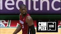 Dwyane Wade Stares At Ref So Hard, He Calls a Foul