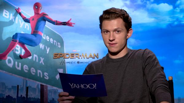 5247e64b39b60 'Spider-Man: Homecoming' Stars Do A Dramatic Reading Of The Classic '60s  Theme Song