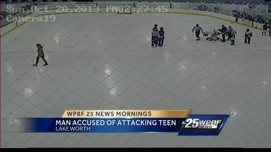 Hockey dad attacks 14-year-old during game