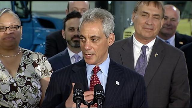 RAW: Emanuel praises CTA construction