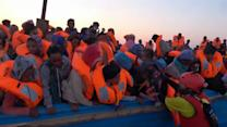Thousands of Refugees Rescued Off the Coast of Libya