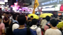 Hundreds of Police Patrol Mong Kok Following Democracy March