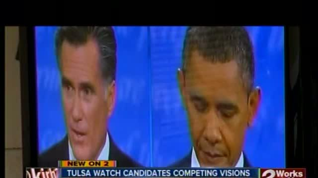 Romney, Obama supporters hold debate watch parties