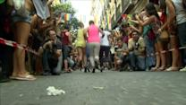 Madrid celebrates gay pride festivities with high heels race