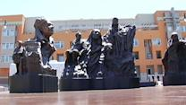 Artist completes 'Champions For Humanity' sculpture