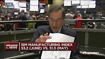 ISM manufacturing at 52.3 in June