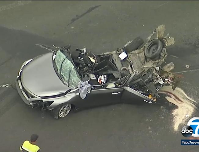 Deadly chain-reaction crash on Calif  freeway captured on video