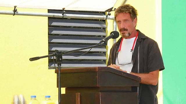 McAfee founder wanted for questioning in American murder in Belize