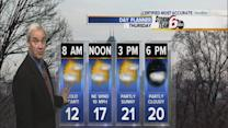 Chance for light snow Friday morning