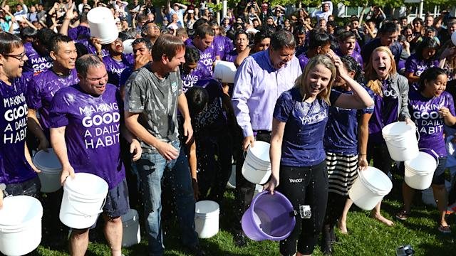 Yahoo takes on the ALS Ice Bucket Challenge